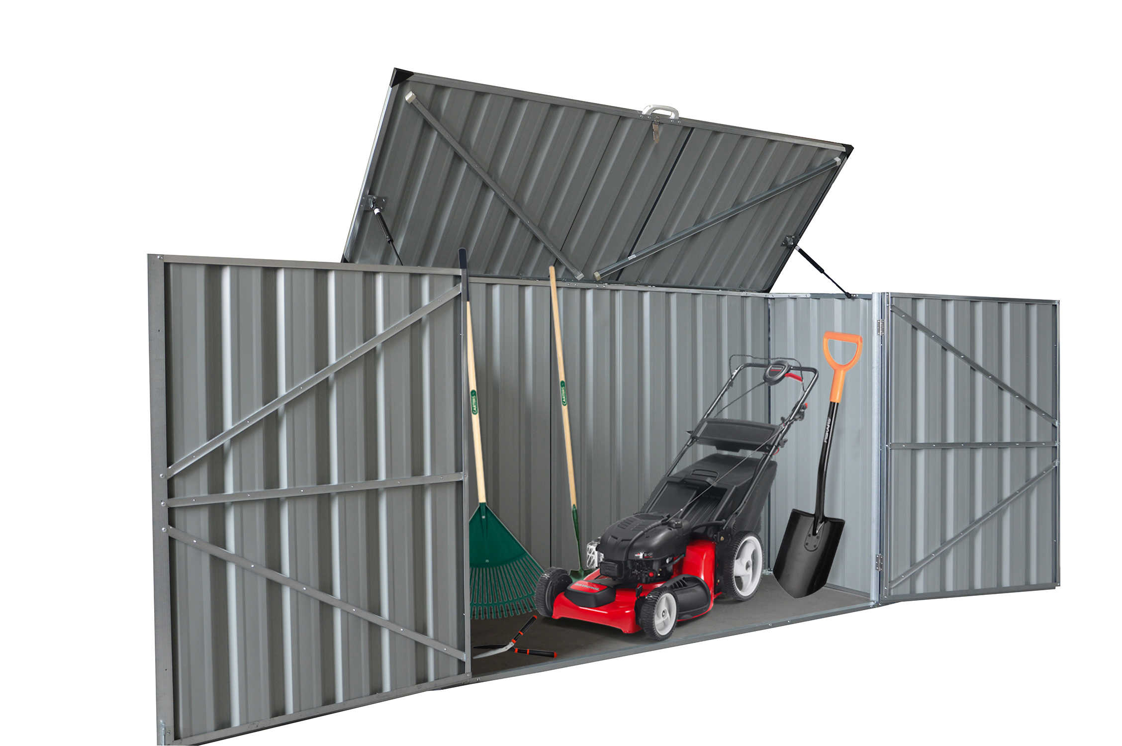 This Is A Low Profile Shed And Only 4 3 High Will Stay Below Most Fence Heights Hiding The From Neighbours Lift Up Lid With Gas Struts Stays